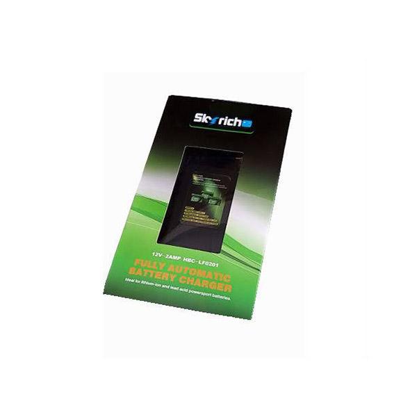 battery plus φορτιστης μπαταριων λιθιου skyrich 12v 2a hbc lf0201 fortistis mpatariwn lithiou