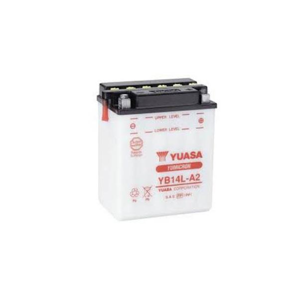 battery plus Μπαταρία μοτοσυκλέτας YUASA YB14L A2 YB14L B2 12N14 3A mpataria motosykletwn