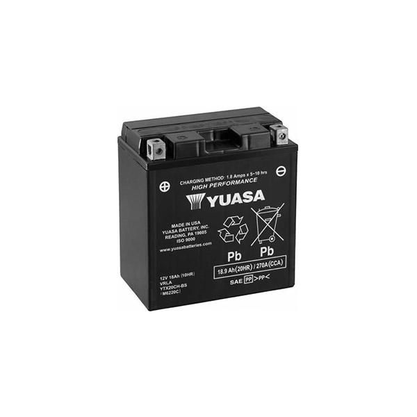 battery plus Μπαταρία μοτοσυκλετών YUASA 12V 18.9AH YTX20CH BS mpataria motosykletwn