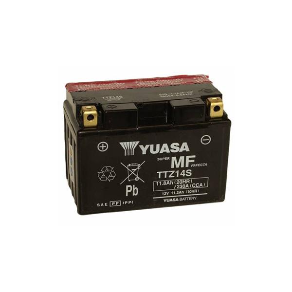 battery plus Μπαταρία μοτοσυκλετών YUASA Maintenance Free YTZ14S 12V 11.2 0HR Ah 230 CCA EN εκκίνησης με υγρά mpataria motosykletwn