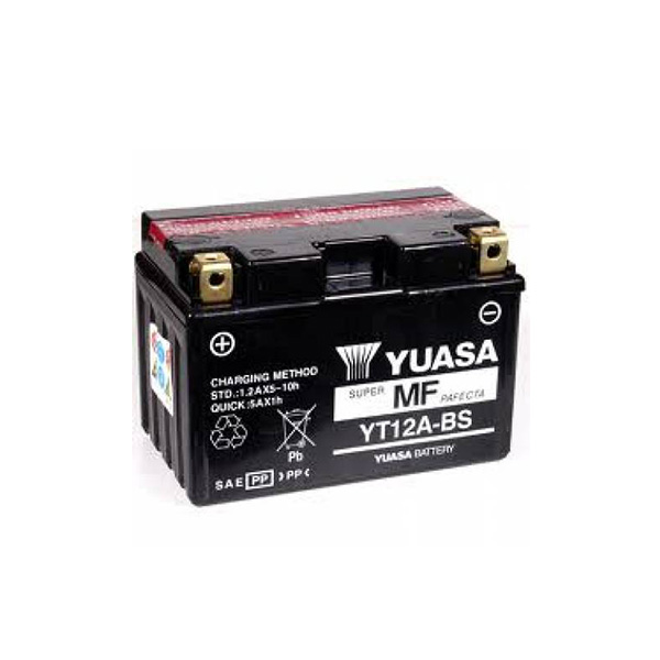 battery plus Μπαταρία μοτοσυκλετών YUASA TAIWAN YT12A BS 12V 10 10HR Ah 175 CCA EN εκκίνησης mpataria motosykletwn