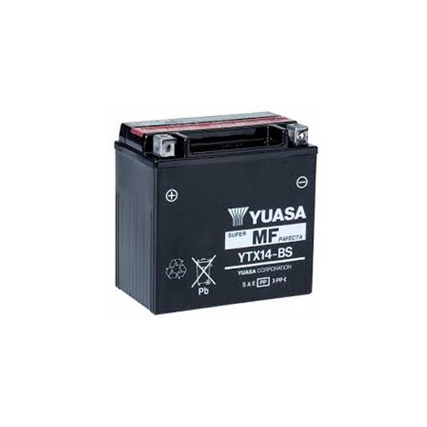 battery plus Μπαταρία μοτοσυκλετών YUASA TAIWAN YTX14 BS 12V 12 10HR Ah 200 CCAEN εκκίνησης mpataria motosykletwn