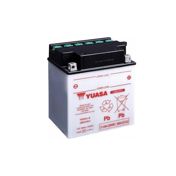 battery plus Μπαταρία μοτοσυκλετών YUASA USA YB30CL B-12V 30 10HR 300 CCA EN εκκίνησης mpataria motosykletwn