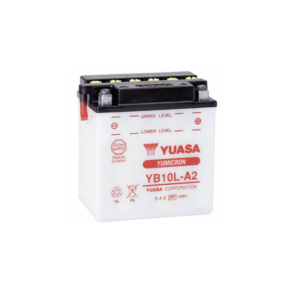 battery plus Μπαταρία μοτοσυκλετών YUASA YB10L A2 12V 12 10HR 160 CCA EN εκκίνησης mpataria motosykletwn