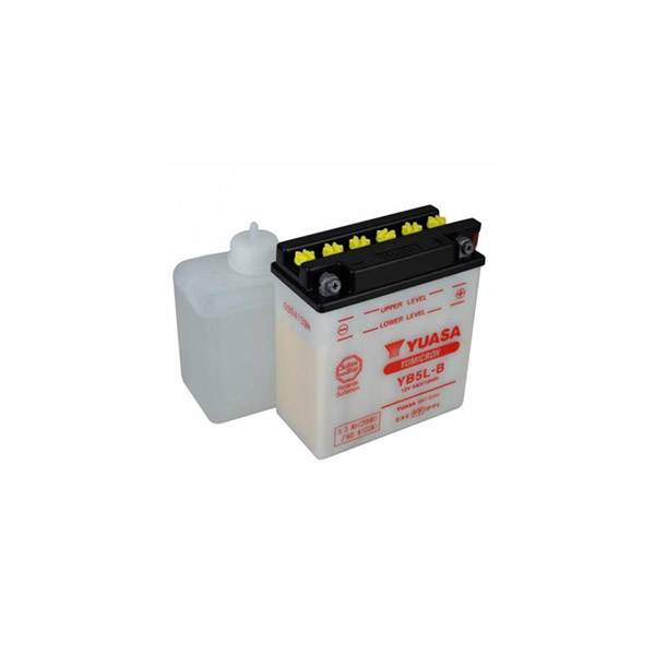 battery plus Μπαταρία μοτοσυκλετών YUASA YB5L B 12V 5Ah με υγρά mpataria motosykletwn