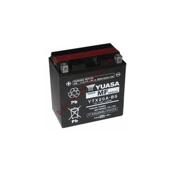 battery plus Μπαταρία μοτοσυκλετών YUASA YTX20A BS 12V 18 10HR Ah 270 CCA EN εκκίνησης mpataria motosykletwn