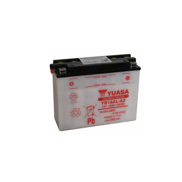 battery plus Μπαταρία μοτοσυκλετών YUASA Yumicron YB16AL A2 12V 16 10HR 200CCA EN εκκίνησης mpataria motosykletwn