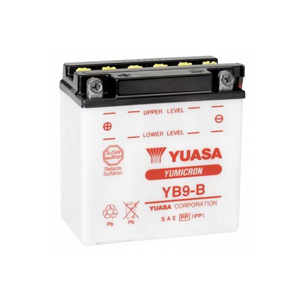 Μπαταρία μοτοσυκλετών YUASA 12N9-3B - 12V 9 (10HR) - 85 CCA (EN) εκκίνησης