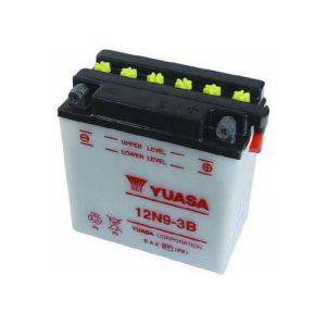 Μπαταρία μοτοσυκλετών YUASA 12N9 3B 12V 9 (10HR) 85 CCA (EN) εκκίνησης